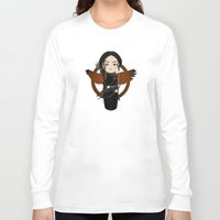 katniss Long Sleeve T-shirts featuring Kokeshi Katniss by Pendientera