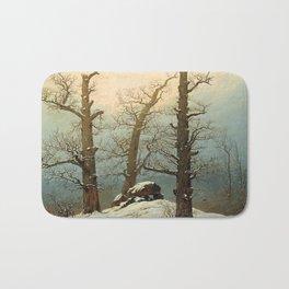 Cairn in Snow by Caspar David Friedrich, 1807 Bath Mat