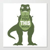 law Canvas Prints featuring Amourosaurus by David Olenick