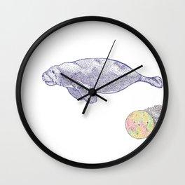 Space Manatee Wall Clock