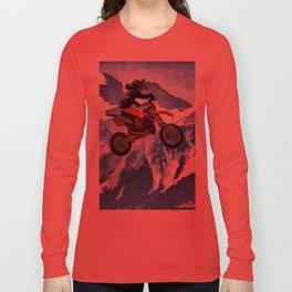 Mountain View - Dirt-bike Racer Long Sleeve T-shirt