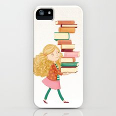 Library Girl 2 Slim Case iPhone (5, 5s)