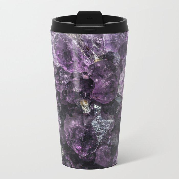 amethyst geode Metal Travel Mug