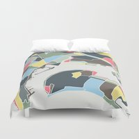 san diego Duvet Covers featuring San Diego by Studio Tesouro