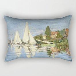 1872-Claude Monet-Regattas at Argenteuil-48 x 75 Rectangular Pillow