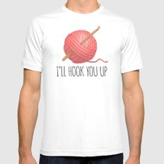 I'll Hook You Up White Mens Fitted Tee MEDIUM