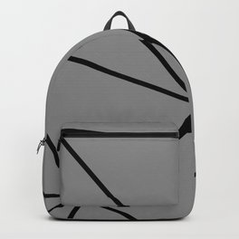 Geometric pattern shapes - black and grey Backpack