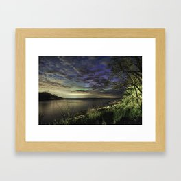 Peek-a-boo Aurora at Folly Cove Framed Art Print