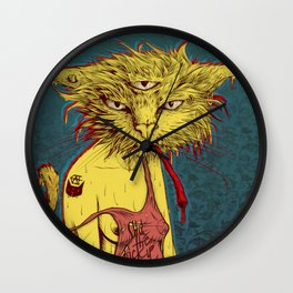 Third eye cat Wall Clock