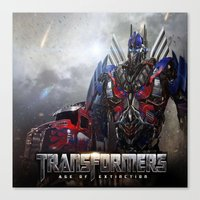 transformers Canvas Prints featuring transformers  , transformers  games, transformers  blanket, transformers  duvet cover by ira gora