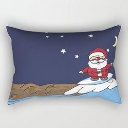 Santa Claws Surf Rectangular Pillow
