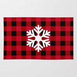 Red Buffalo Check - snowflake - more colors Rug