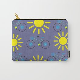 Sunshine And Bicycles Illustration Carry-All Pouch