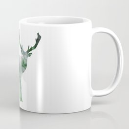 Green Forest Elk Spirit, Deer of the Woodland Coffee Mug