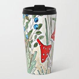 Watercolor. Forest. Amanita. Travel Mug