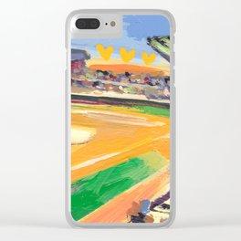 LSU Softball Clear iPhone Case
