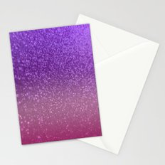 Gradient Glitter Purple Pink Sparkle Stationery Cards