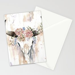 Rustic Boho Longhorn Stationery Cards