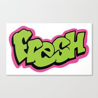fresh prince Canvas Prints featuring Fresh by MartiniWithATwist