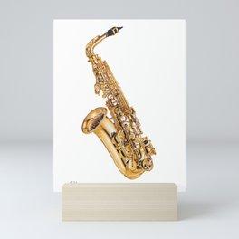 Saxophone ink drawing Mini Art Print