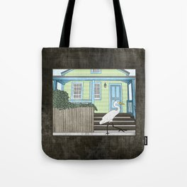 Great Egret and House Tote Bag