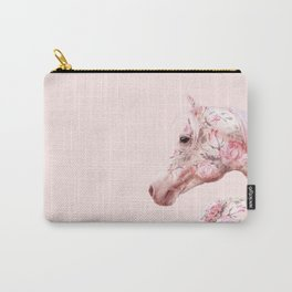FLORAL HORSE Carry-All Pouch