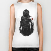 bucky barnes Biker Tanks featuring Who the hell is Bucky? by charlotvanh
