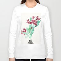 peru Long Sleeve T-shirts featuring Peru Lilies by Kate Havekost Fine Art