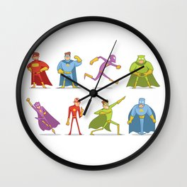 Funny Superheroes Wall Clock