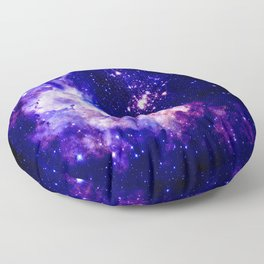 indigo galaxy : Celestial Fireworks Floor Pillow