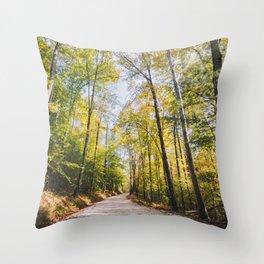 Forest Road - Muir Valley, Kentucky Throw Pillow