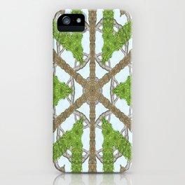 Bark Leaves Stone Kaleidoscope Art 1 iPhone Case