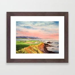 Pebble Beach Golf Course Hole 7 Framed Art Print