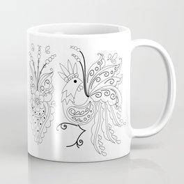 Folklore Rooster - Swedish Folk Art Coffee Mug