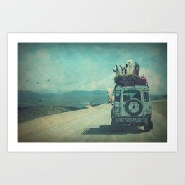 NEVER STOP EXPLORING II SOUTH AMERICA Art Print