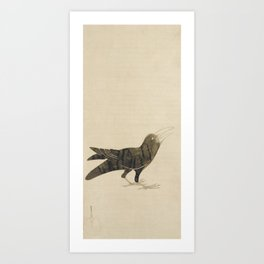 Crow - Konoshima Okoku (1877-1938) - Japanese scroll painting Art Print
