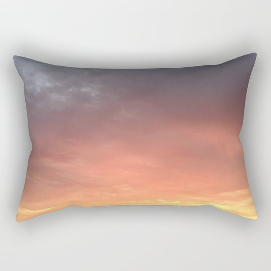 Yellow Red and Gray Sky Rectangular Pillow