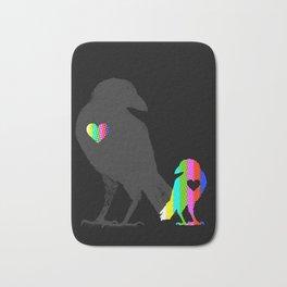 Crow's Heart Bath Mat