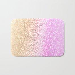 GOLD PINK GLITTER by Monika Strigel Bath Mat