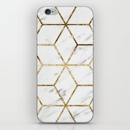 Gatsby golden marble iPhone Skin