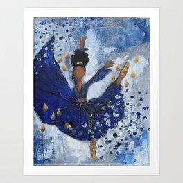 Misty Ballerina Art Print