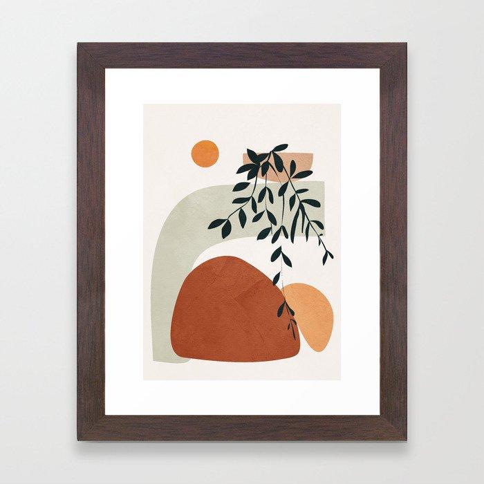 Soft Shapes I Framed Art Print by City Art - Conservation Walnut - X-Small-10x12
