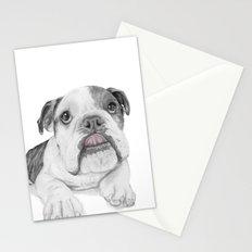 A Bulldog Puppy Stationery Cards