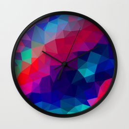 Watermelon Ice Low Poly Wall Clock