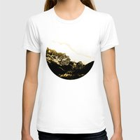 snowboarding T-shirts featuring Golden Mountain by Schwebewesen • Romina Lutz
