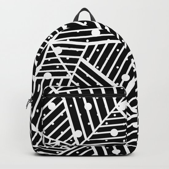 Abstraction Spots Close Up Black Backpack
