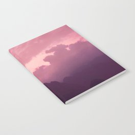 Dreamy pink sky over the mountains Notebook