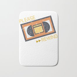 Please Rewind VHS Player Viedo Home Recorder Casette Machine Tapes Gift Bath Mat