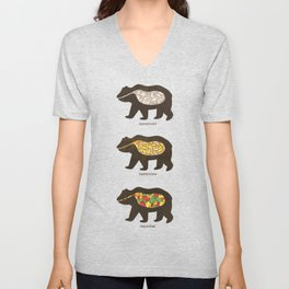 The Eating Habits of Bears Unisex V-Neck