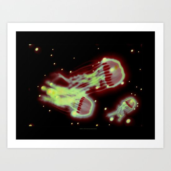 Jellyfish - 037 Art Print
